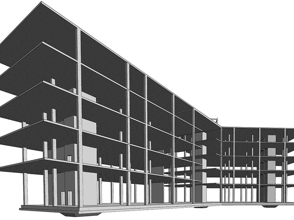 3D modelling a university